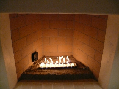 fireplace to glass conversion with fireballs