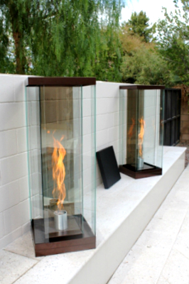 Custom Vortex Fires, pool side fire features